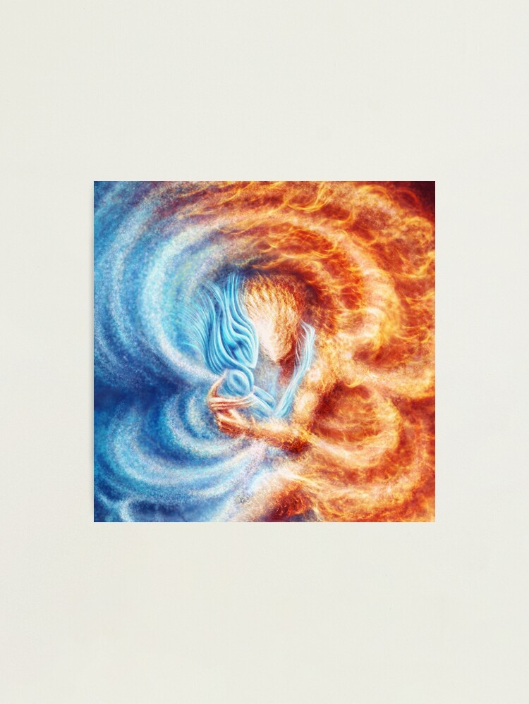 Alternate view of Fire and Ice  (closeup, square) Photographic Print