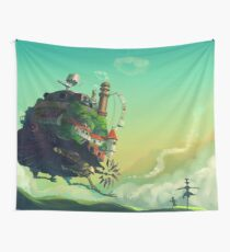 Howls Moving Castle studio ghibli Wall Tapestry