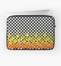 CHECKERED FLAMES Laptop Sleeve
