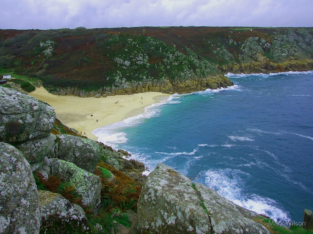 Porthcurno Bay, Cornwall by Mark Wilson