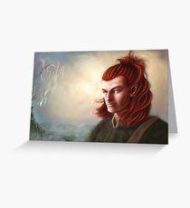 Wild Elf hunter, colour Greeting Card