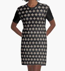 ROYAL1 BLACK MARBLE & SAND Graphic T-Shirt Dress