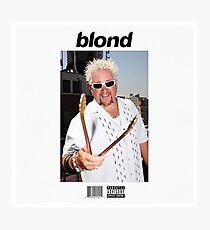 Blond - Frank Ocean x Guy Fieri Photographic Print