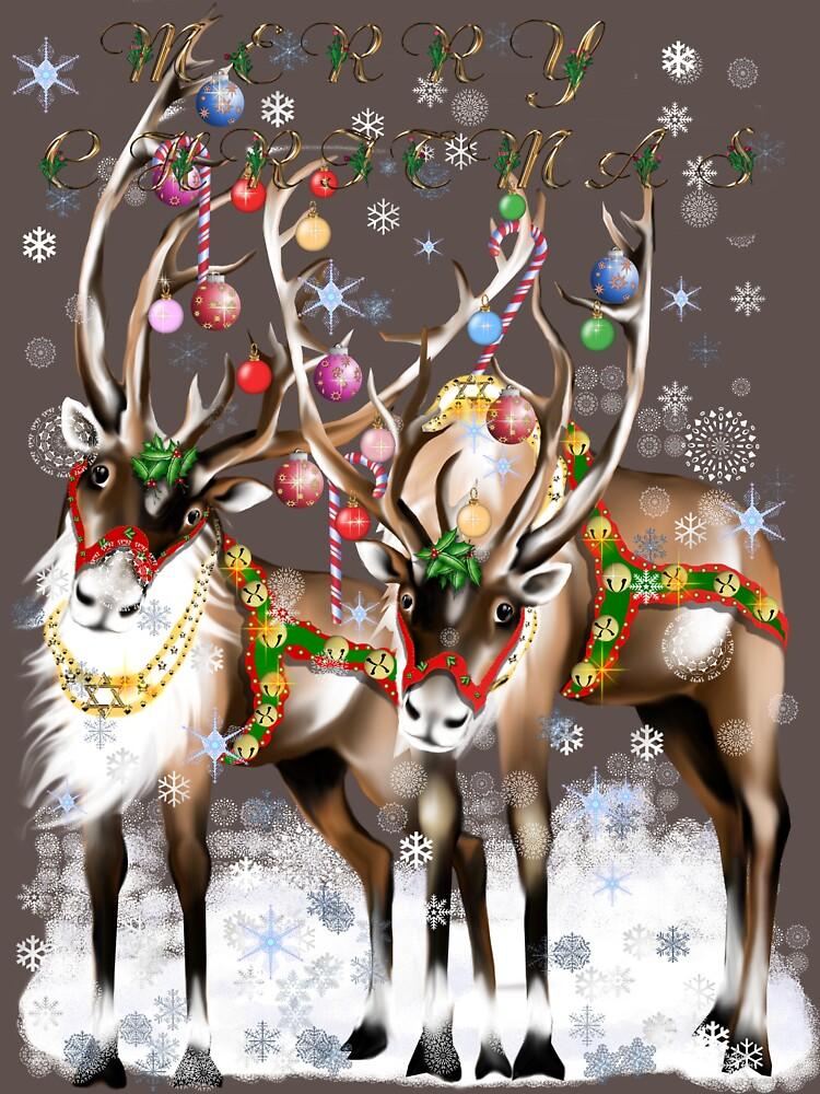 Merry Christmas Reindeer by Lotacats