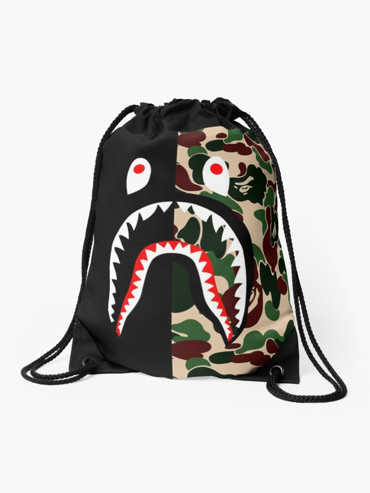Bape Shark Backpack >> Bape Shark Case Drawstring Bag