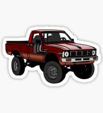 Red 1979 4x4 Pickup Sticker