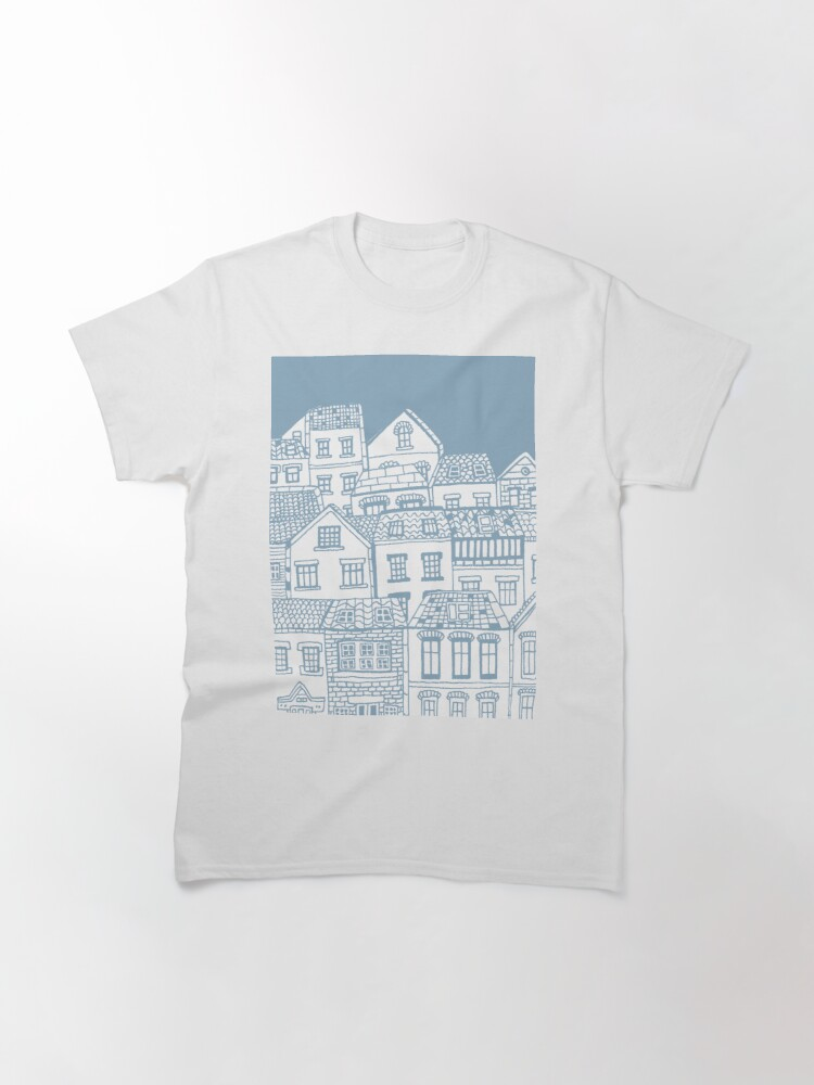 Alternate view of Old city - hand drawing Classic T-Shirt