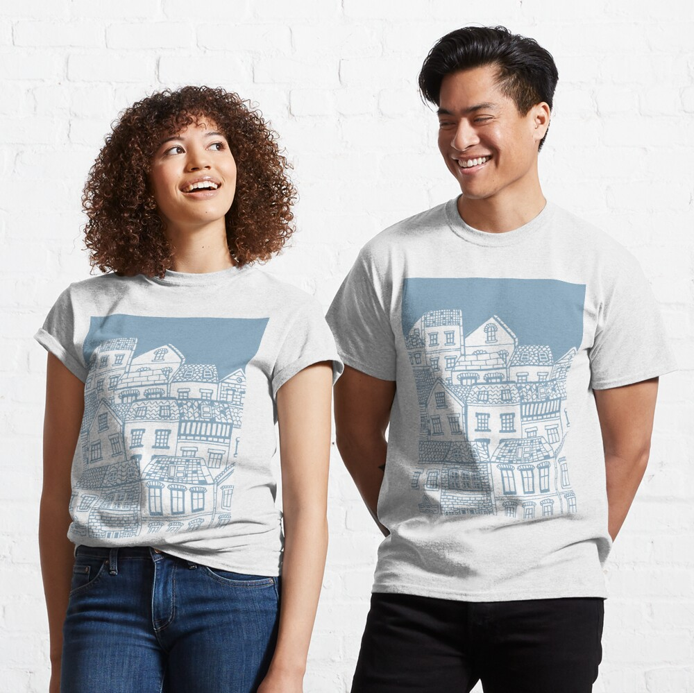 Old city - hand drawing Classic T-Shirt