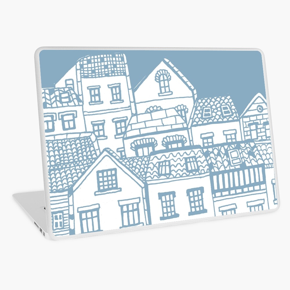 Old city - hand drawing Laptop Skin