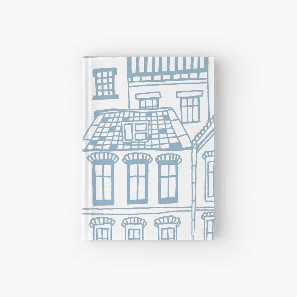 Old city - hand drawing Hardcover Journal