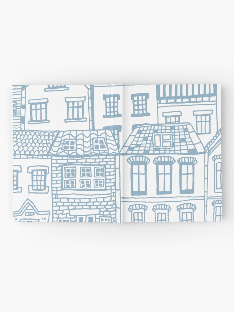 Alternate view of Old city - hand drawing Hardcover Journal