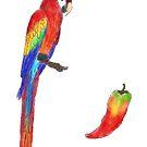 Parrot Pepper Coevolution by LorraineRenee