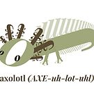 type axolotl (alternate color) by jenlinhua