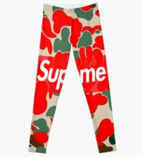 Bape Red Leggings