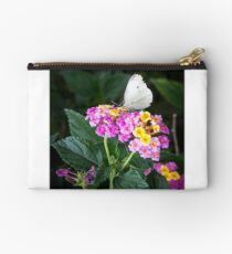 Cabbage Moth on Lantana Studio Pouch