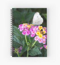 Cabbage Moth on Lantana Spiral Notebook