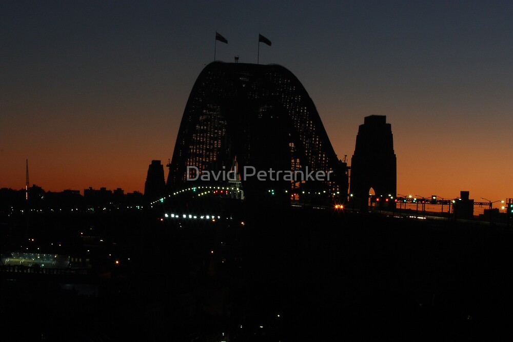 Sunset by the Bridge by David Petranker