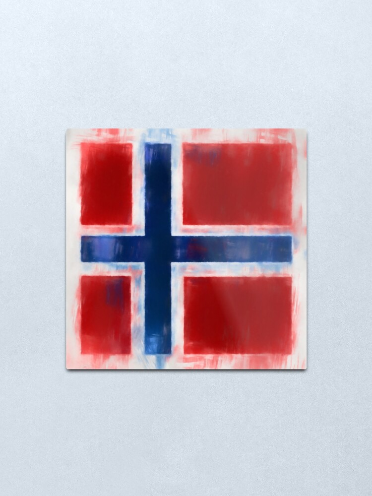 Alternate view of Norwegian Flag No. 2, Series 1 Metal Print
