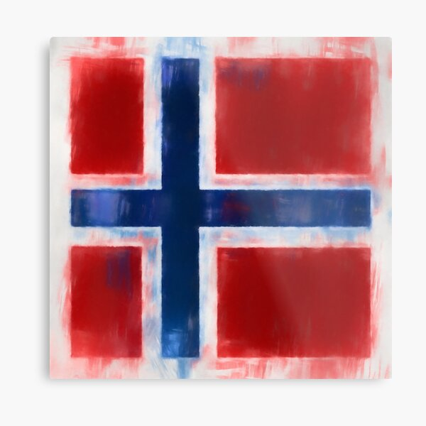 Norwegian Flag No. 2, Series 1 Metal Print