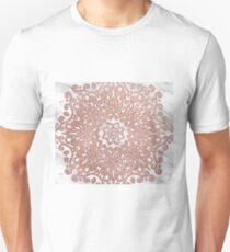 Shimmering rose gold marble mandala T-Shirt