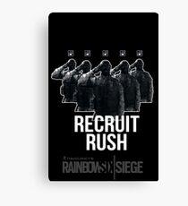 Recruit Rush | R6 Operator Series Canvas Print
