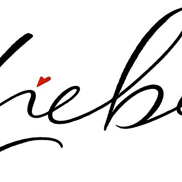 Liebe Love Hertz Schönschrift Schöne Schrift Calligraphy Skinny Lettering by 26-Characters