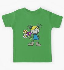 little doll - doll with flowers Kids Tee