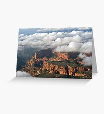 Kolob section of Zions Park with clouds Greeting Card