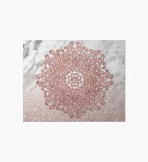 Rose gold mandala marble glitter ombre Art Board