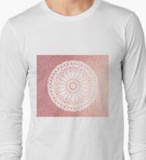 Pink diamond rose gold mandala T-Shirt