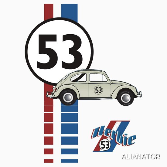 TShirtGifter presents: Herbie 53 VW bug beetle | Baseball  Sleeve