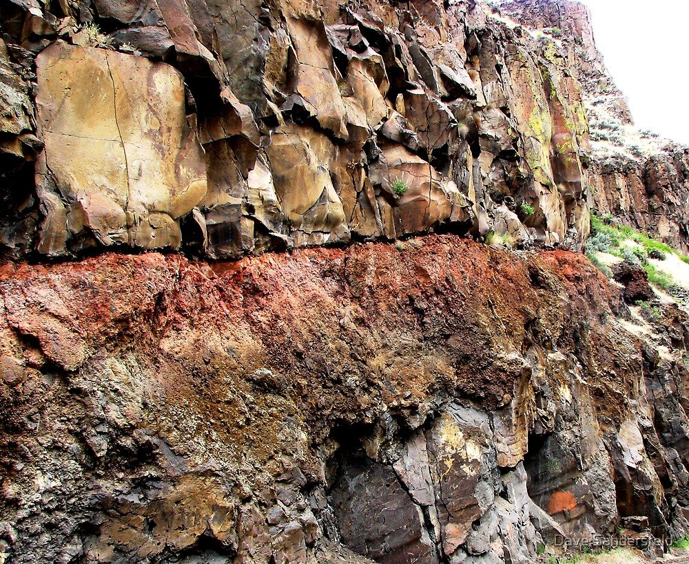 Injurated soil zone baked by lava flow above by Dave Sandersfeld