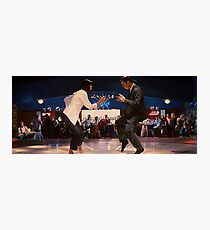Mrs. Mia Wallace and Mr. Vincent Vega Photographic Print