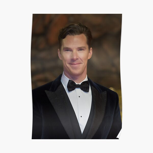 Benedict Cumberbatch - Oil Paint Art Poster