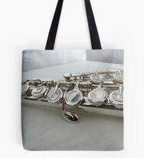 Silver Keys - Flute Close-up Tote Bag