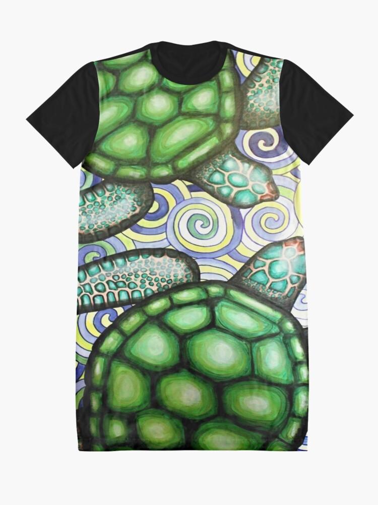 Alternative Ansicht von Turtle Tide in Spiralen T-Shirt Kleid