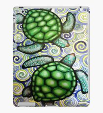Turtle Tide in Spirals iPad Case/Skin
