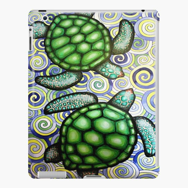 Turtle Tide in Spirals iPad Snap Case