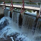 Water over Canal Locks, Lambertville by Anna Lisa Yoder