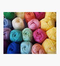 Yummy yarn Photographic Print