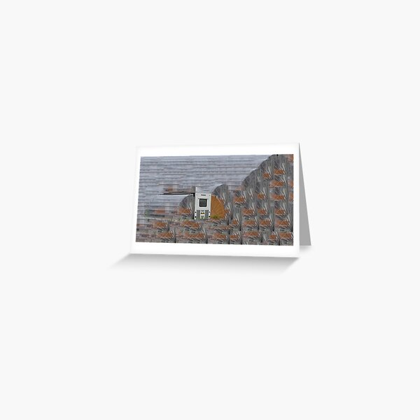 Accordion Hut Greeting Card