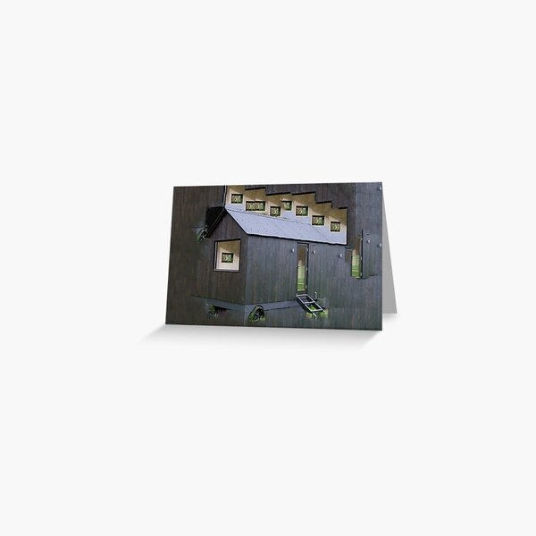 Black Tiny House Greeting Card