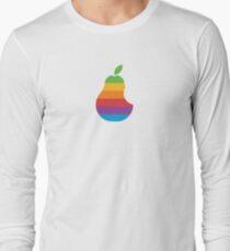 Pear Apple Parody Funny Retro Long Sleeve T-Shirt
