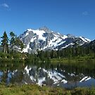 Picture Lake with Mt. Shuksan by Edith Farrell