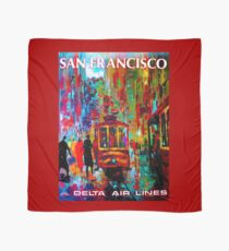 DELTA AIR LINES ; Fly to San Francisco Advertising Print Scarf