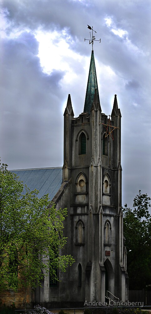 Old Church At Beechworth by Andrew Clinkaberry