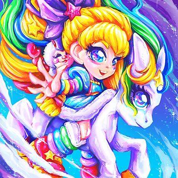 RainbowBrite & Starlite by Poofette