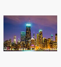 Chicago at Night Photographic Print