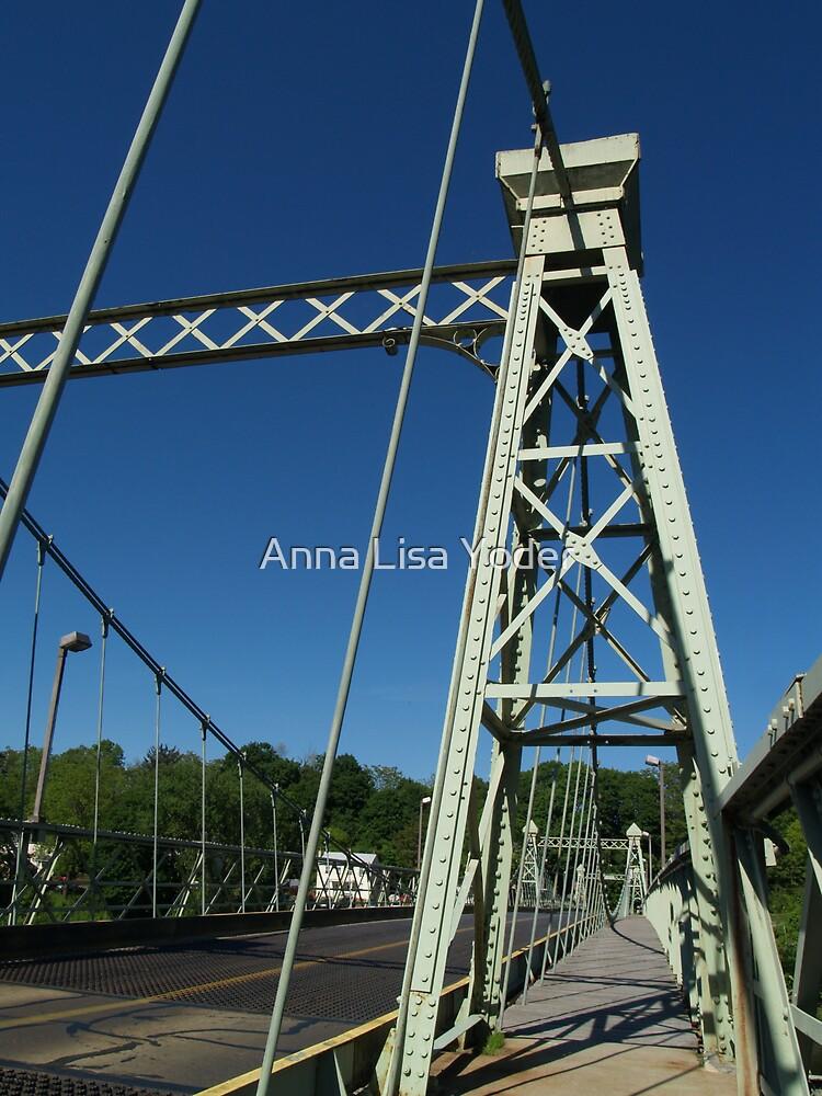 Roebling Bridge Crossing Delaware by Anna Lisa Yoder