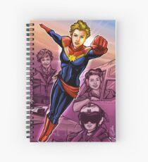Strong Female Super Hero Spiral Notebook